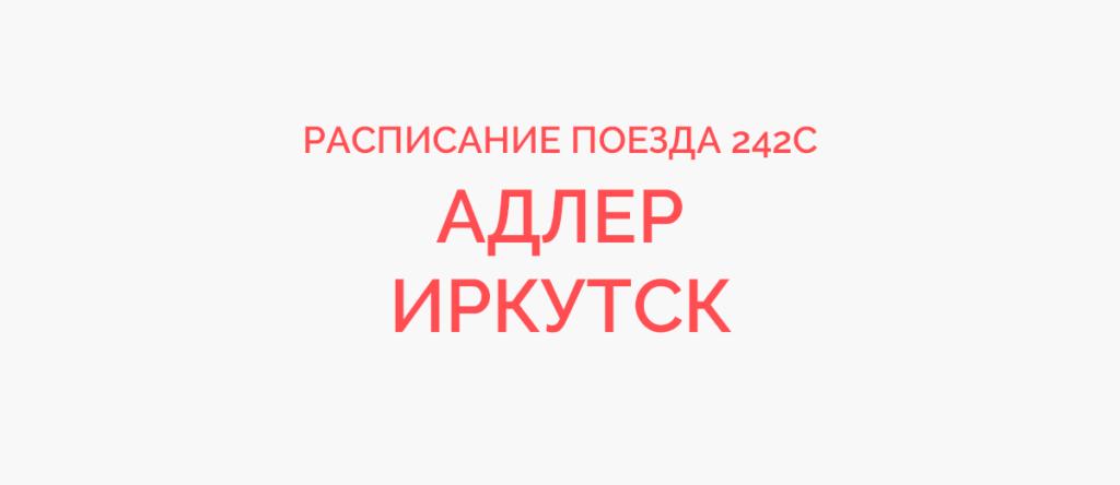Поезд 242С расписание и маршрут следования, жд билеты
